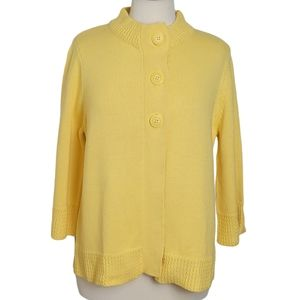 CAROL REED Sweater Cardigan Button Knit